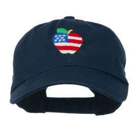 Apple American Flag Embroidered Cap