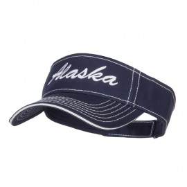 Alaska State Embroidered Contrast Stitch Visor