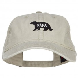 Papa Bear Embroidered Washed Cap