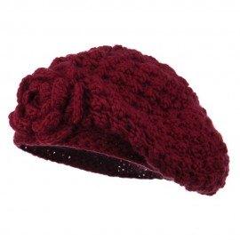 Women's Flower Accent Beret