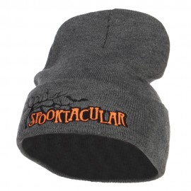 Halloween Spooktacular Embroidered Long Beanie