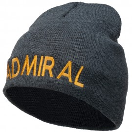 Admiral Embroidered Short Beanie