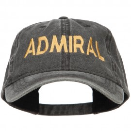 Admiral Embroidered Washed Buckle Cap
