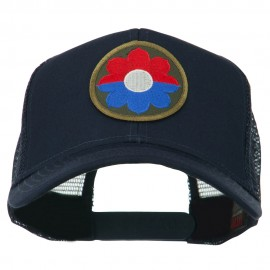 US Army 9th Infantry Division Patched Mesh Back Cap