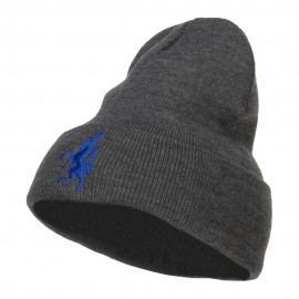 Antelope Emblem Embroidered Long Beanie
