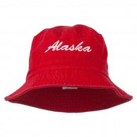 Alaska Embroidered Pigment Dyed Bucket Hat