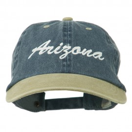 Arizona Embroidered Washed Cap - Navy Khaki