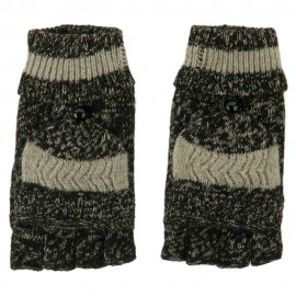 Men's Acrylic Fingerless Cuff Gloves