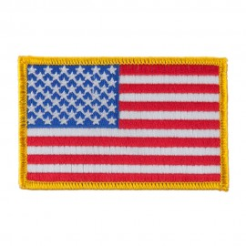 American Flag Patch - Yellow Ace