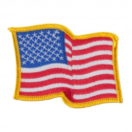 American Flag Patch - Wave