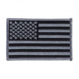 American Flag Patch - Grey