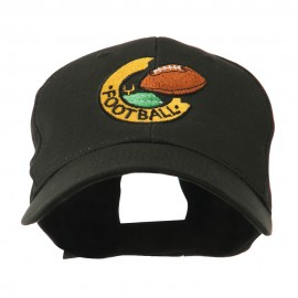 American Football Field and Ball Embroidered Cap