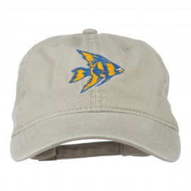 Angel Fish Embroidered Washed Dyed Cap