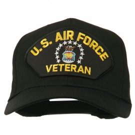 US Air Force Veteran Military Patch Cap - Black