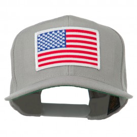 White American Flag Wool Blend Prostyle Patched Cap