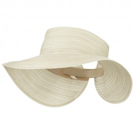 UPF 40+ Poly Braid Roll Up Visor - White Brown