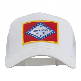 Arkansas State Flag Patched Mesh Cap