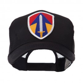 US Army Shield Military Patched Mesh Cap - 2nd Field