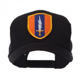 US Army Shield Military Patched Mesh Cap - 1st Signal
