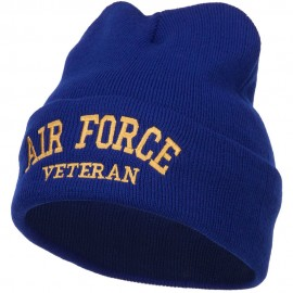 Air Force Veteran Letters Embroidered Long Beanie