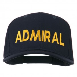 Admiral Embroidered Cotton Twill Cap - Navy