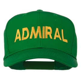 Admiral Embroidered Cotton Twill Cap