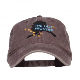 Alaska Last Frontier State Embroidered Cap