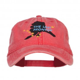 Alaska Last Frontier State Embroidered Cap - Red