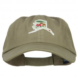 USA State Alaska Patched Low Profile Cap