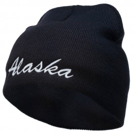 Alaska Embroidered Short Beanie