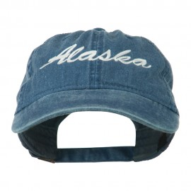 US State Alaska Embroidered Washed Cap