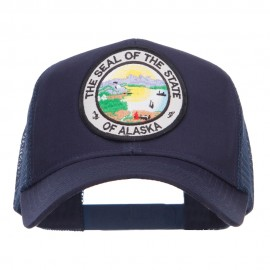 Alaska State Seal Patched Mesh Cap