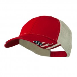 Structured American Flag Cap - Red