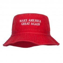 Make America Great Again Embroidered Bucket Hat - Red