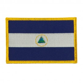 America Flag Embroidered Patches - Nicaragua