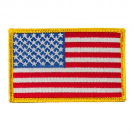 America Flag Embroidered Patches - United States