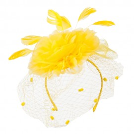 Flower Fascinator With Netting