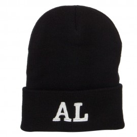 AL Alabama State Embroidered Long Beanie