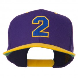 Athletic Number 2 Embroidered Classic Two Tone Cap
