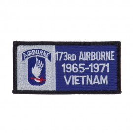 Air Borne Rectangle Embroidered Military Patch - 173rd