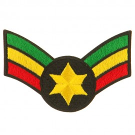 Assorted Rasta Patch-Crown Wing Star