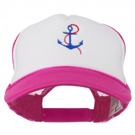 Anchor with Chain Embroidered Foam Mesh Back Cap