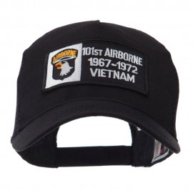 Air Borne Rectangle Military Patched Mesh Cap