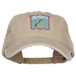 Archery Bow Arrow Patched Wash Cap
