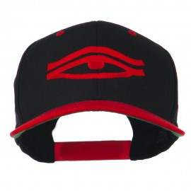 All Seeing Eye Embroidered Flat Bill Cap