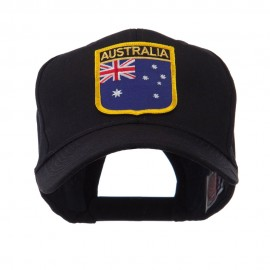 Asia Australia and Other Flag Shield Patch Cap