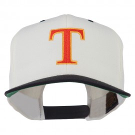 Greek Alphabet Tau Embroidered Classic Two Tone Cap
