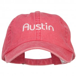 Austin Embroidered Washed Buckled Cap