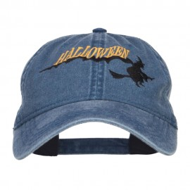 Halloween Witch Embroidered Washed Cap