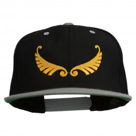 Abstract Wings Design Embroidered Snapback Cap